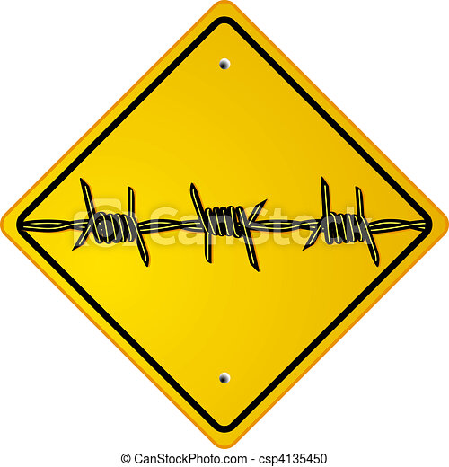 barbed wire - csp4135450