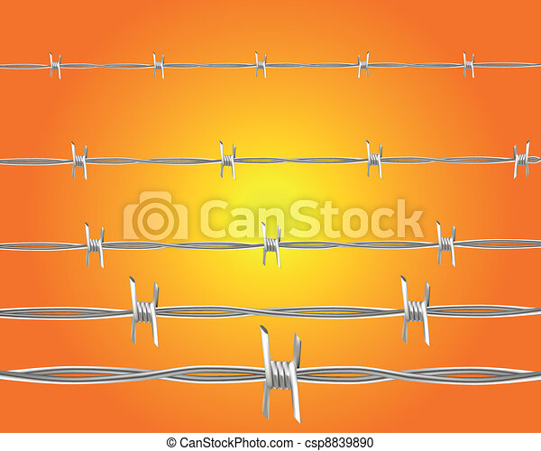 barbed wire - csp8839890