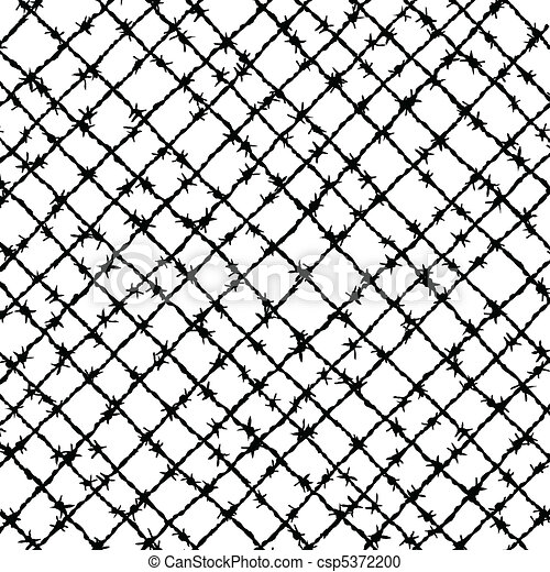 Barbed wire woven.