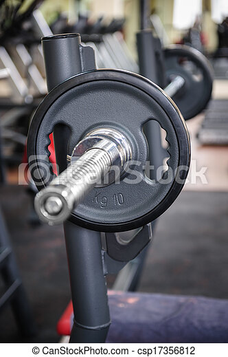 Barbell ready to workout - csp17356812