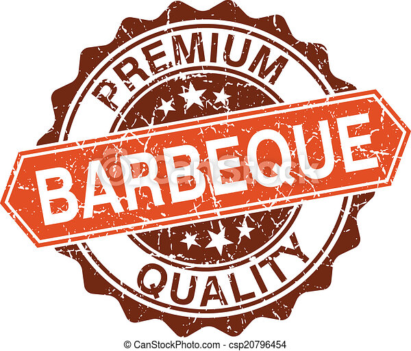 Barbeque grungy stamp isolated on white background - csp20796454