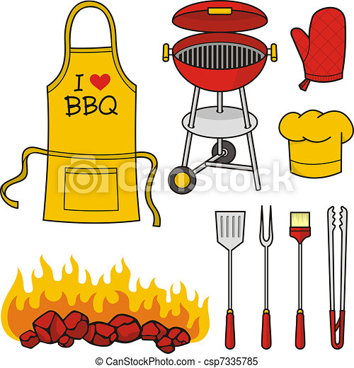 Barbeque icons - csp7335785