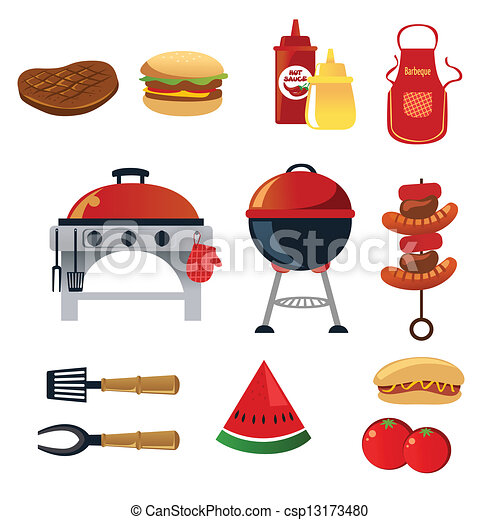 Barbeque icons - csp13173480