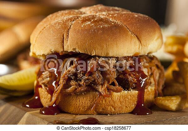 Barbeque Pulled Pork Sandwich - csp18258677