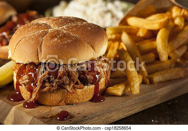 Barbeque Pulled Pork Sandwich - csp18258654