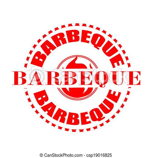 barbeque stamp - csp19016825