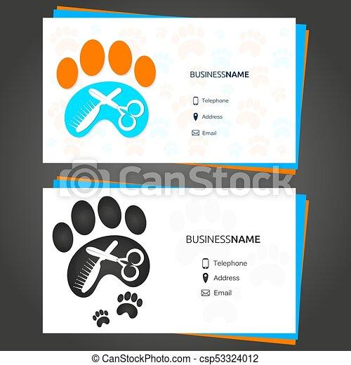 Barber animal business card barber pet business card concept barber animal business card csp53324012 colourmoves