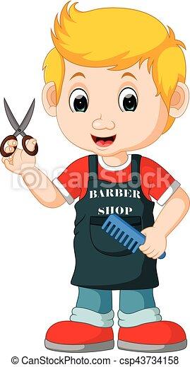 Ilustration Of Cute Barber Cartoon