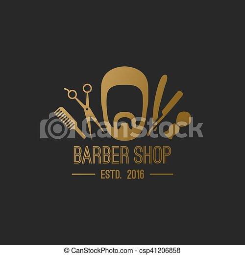 barber logo elements vector gold hipster barber shop logo hair salon clip art black and white hair salon clip art png