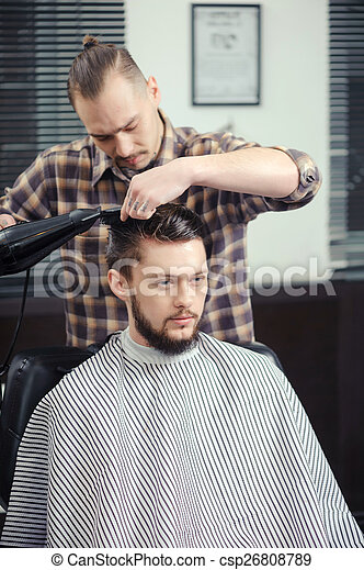 Prime Barber Makes A Haircut True Lumberjack Young Stylish Tattooed Natural Hairstyles Runnerswayorg