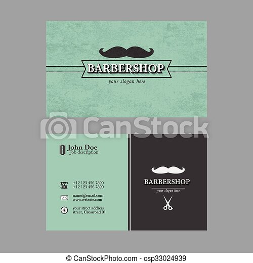Barber shop business card abstract elegant barber shop business barber shop business card csp33024939 fbccfo