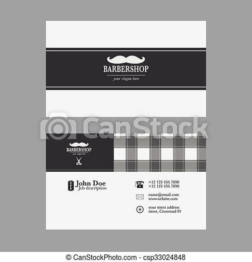 Abstract elegant barber shop business card template eps vector barber shop business card template csp33024848 flashek Image collections