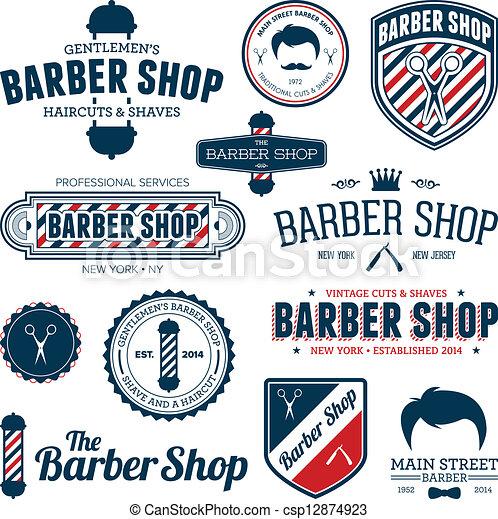 Barber shop graphics - csp12874923