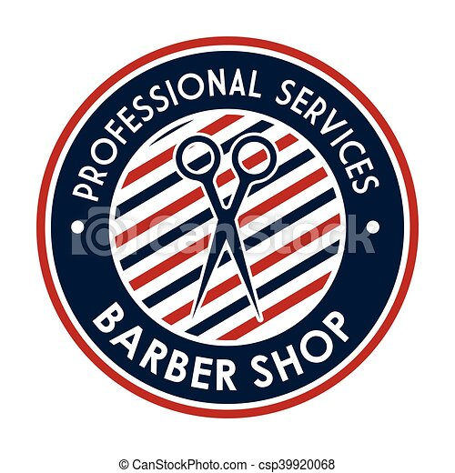 Barber Shop Stamp Professional Services With
