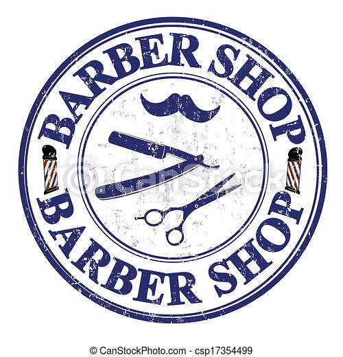 barber shop stamp barber shop grunge rubber stamp on white eps rh canstockphoto com barber shop clipart free barber shop clipart free