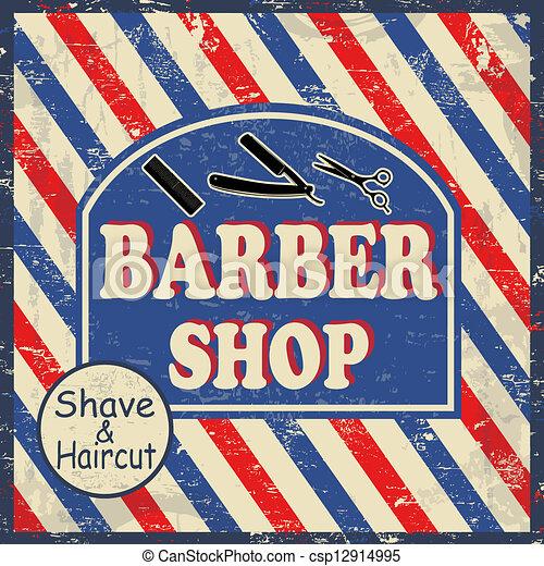 barber shop vintage poster barber shop vintage grunge poster rh canstockphoto com cartoon barber shop clipart cartoon barber shop clipart