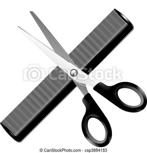 Barber tools - vector illustration  - csp3884183