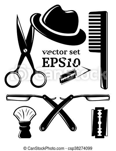 Barbershop accessory set - csp38274099
