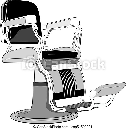 Barbershop Chaireps Illustration Of Leather Barber Chair