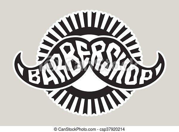 Barbershop Logo Black And White