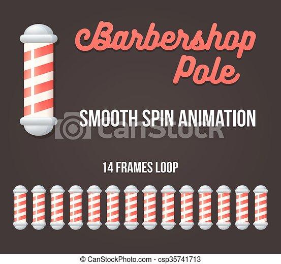 Barbershop pole animation - csp35741713
