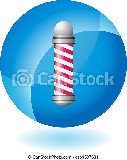 Barbershop Pole - csp3507631