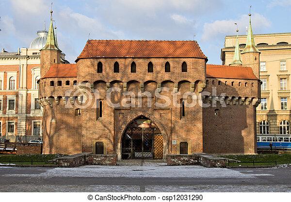 Barbican, Cracow, Krakow, Poland - csp12031290