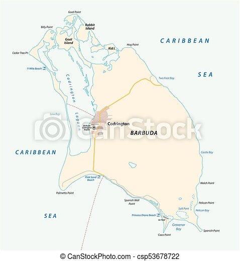 Barbuda vector map - csp53678722