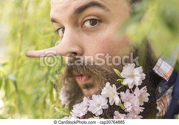 Flores barbudas mentirosas - csp30764885