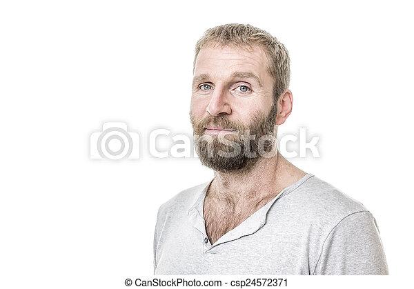 barbuto, casuale, uomo - csp24572371