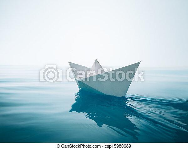 barca carta, navigazione - csp15980689