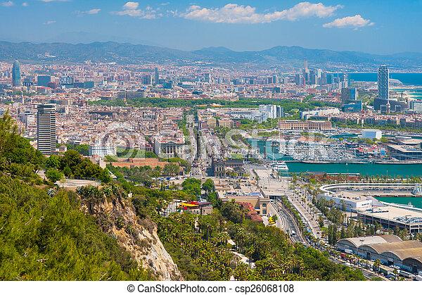 Barcelona in a sunny summer day - csp26068108