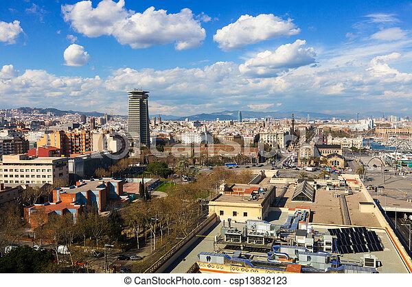 Barcelona in sunny day - csp13832123