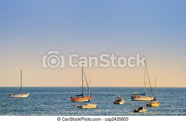 barche, mare - csp2435803