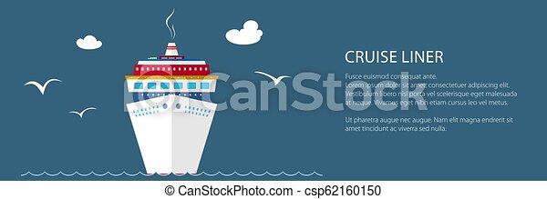 Crucero de barco en la bandera marina - csp62160150