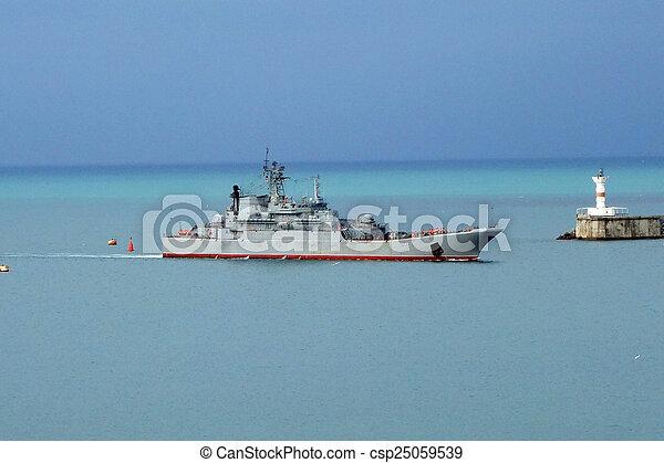 Nave militar - csp25059539