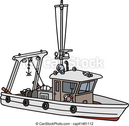 Barco Pesquero Pequeño Pequeño Dibujo Barco De Pesca Mano
