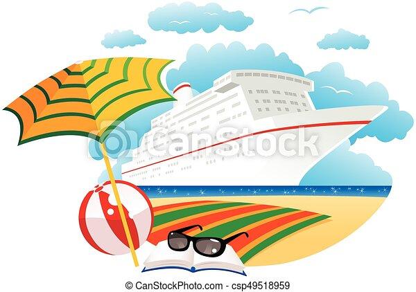 Un crucero cerca de la playa - csp49518959