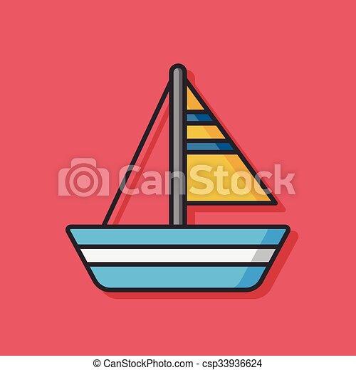 icono vector de barco - csp33936624