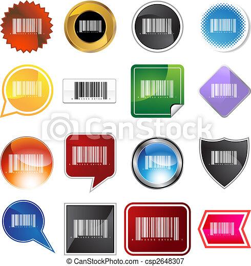 barcode, 集合, 標簽 - csp2648307