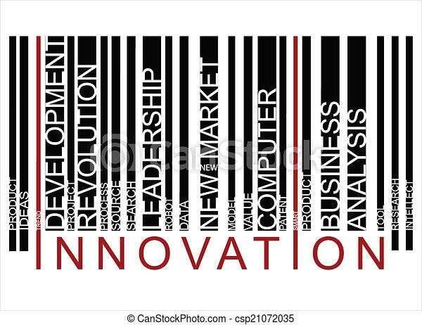 barcode, coloré, innovationtext - csp21072035