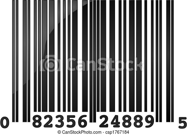 glossy illustration of a random sample barcode eps vector search