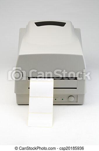 barcode, imprimante, étiquette - csp20185936