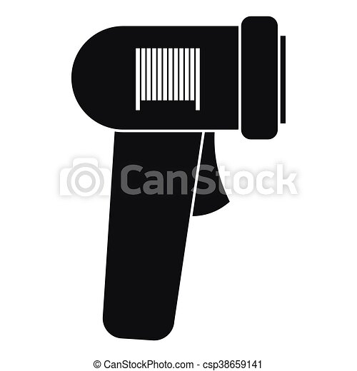 Barcode Scanner Icon Simple Style