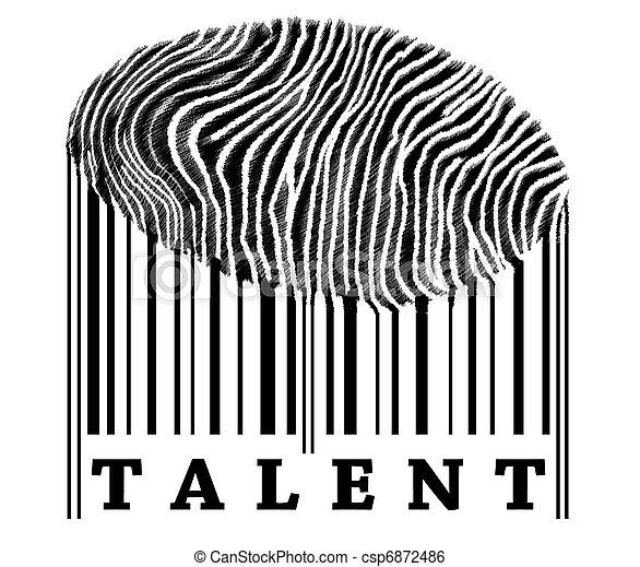 Talento en el código de barras - csp6872486