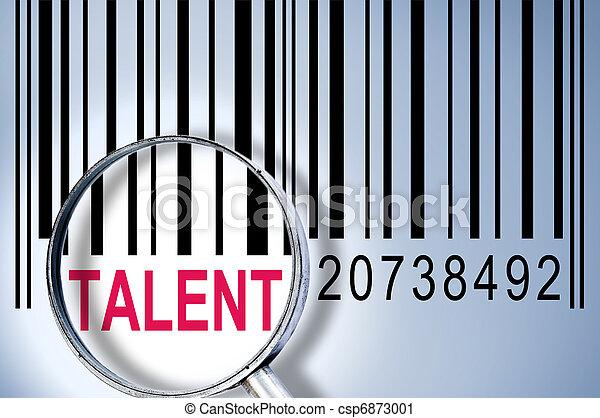 Talento en el código de barras - csp6873001