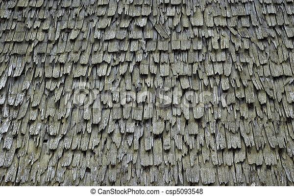 bardeau, texture, toit - csp5093548