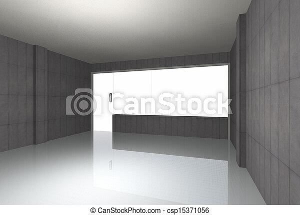 Bare concrete room - csp15371056