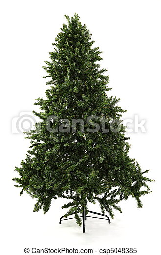 Bare Undecorated Christmas Tree - csp5048385