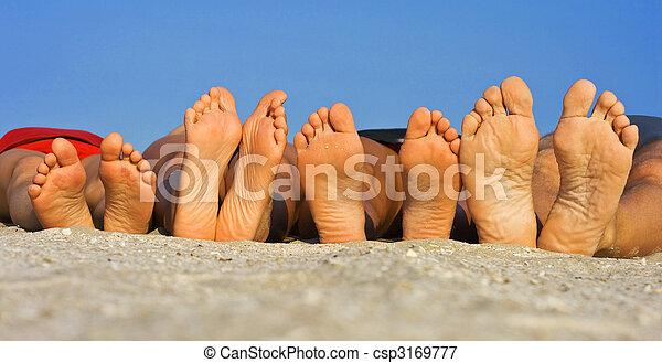 Barefoot on sand - csp3169777